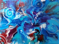 """Convergence of the Four Winds / 18"""" x 24"""" / acrylic on canvas"""