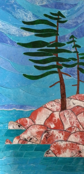 """Formed by the Elements / 12"""" x 24"""" / acrylic on canvas"""