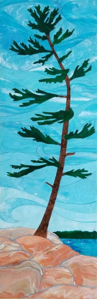 """""""Dancing With the Wind"""" / 12"""" x 36"""" / acrylic on canvas"""