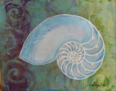 "Nautilus Shell / 8"" x10"" / Mixed Media SOLD"