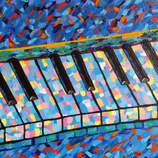 "Piano Blues / 12"" x 12"" / acrylic on canvas"