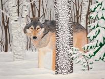 """Lone Wolf"" / 48"" x 36"" / Acrylic"