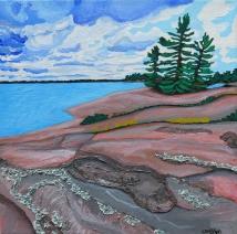 """Rugged Shoreline"" / 10"" x 10"" / acrylic on canvas SOLD"